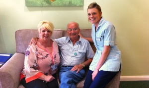 Martyn Picture with Pat & Hospice Staff